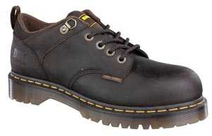 Dr. Martens 13735201 Unisex Brown Steel Toe, SD, Slip Resistant Casual Oxford