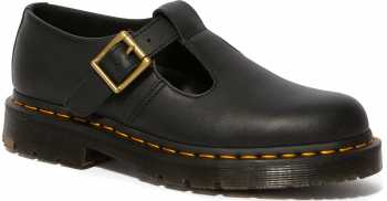 Dr. Martens DMR25623001 Polley, Women's, Black, Soft Toe, Slip Resistant Mary Jane