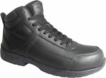 Genuine Grip GGM1021 Men's, Black, Steel Toe, Slip Resistant, Mid High Athletic