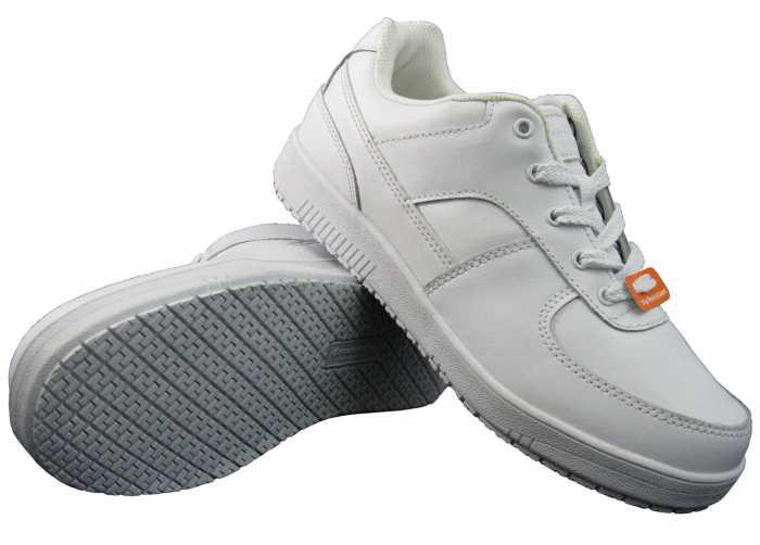 Genuine Grip M215 Women's White, Soft Toe, Slip Resistant, Low Athletic