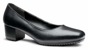 Genuine Grip GGM8500 Women's Black, Square Toe, Slip Resistant, Dress Shoe With Heel