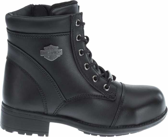 Harley Davidson HD83883 Raine, Women's, Black, Steel Toe, EH, Side Zip Boot