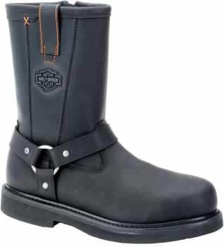Harley Davidson 95328 Men's Black, Steel Toe, EH Harness Boot
