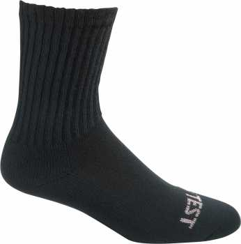 HYTEST AS175BLK-6PK Women's, Black, Solid Crew Sock