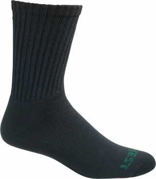 HyTest AS275BLK-12PK Men's, Solid Black, Crew Sock