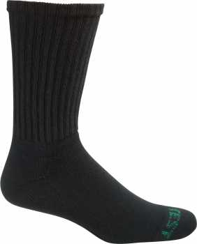 HYTEST AS279BLK-12PK BIGFOOT, Men's, Black, Cotton Crew Sock