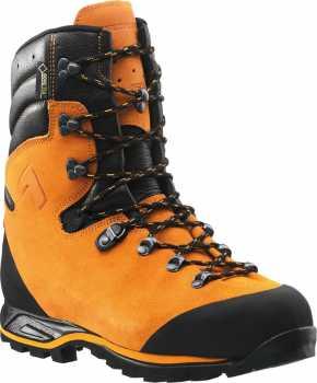 Haix HX603102 Protector Prime, Men's, Orange, Steel Toe, EH, PR, WP, Chain Saw, 9 Inch Boot