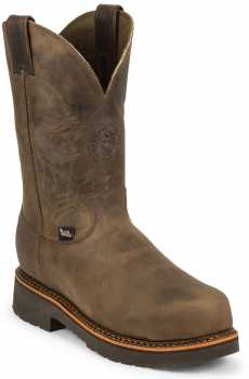 Justin JUWK4491 Blueprint, Men's, Brown, Comp Toe, EH, 11 Inch, Pull On Boot
