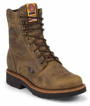 Justin JU491 J-Max, 8 Inch, Comp Toe, EH, Made In USA Boot