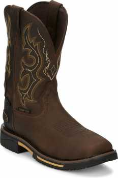 Justin JUSE4625 Joist Hybred, Men's, Aged Brown, Comp Toe, EH, WP, Pull On
