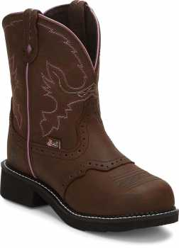 Justin JUSEL9980 Wanette, Women's, Brown, Steel Toe, EH, Pull On Boot