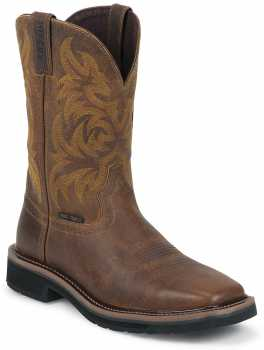 Justin Boot JUWK4824 Handler, Men's, Brown, Comp Toe, EH, Pull On Boot