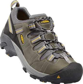 Keen Utility KN1007013 Detroit, Men's, Black/Green, SD, Soft Toe Low Hiker Work Shoe