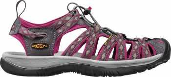 KEEN Utility KN1014204 Whisper, Women's, Magnet/Sangria, Soft Toe Sandal