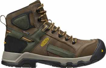 KEEN Utility KN1016962 Davenport Men's, Shitake/Forest Night, Comp Toe, EH, Waterproof Hiker
