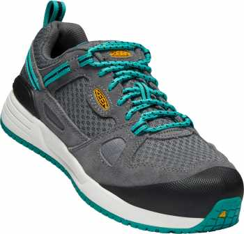 Keen Utility KN1018651 Springfield, Women's, Steel Grey/Lake Blue, Aluminum Toe, EH Athletic