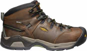 KEEN Utility KN1020085 Detroit XT, Men's, Brown/Green, Steel Toe, EH, WP Hiker