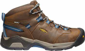 KEEN Utility KN1020086 Detroit XT, Men's, Brown/Blue, Steel Toe, EH, WP Hiker