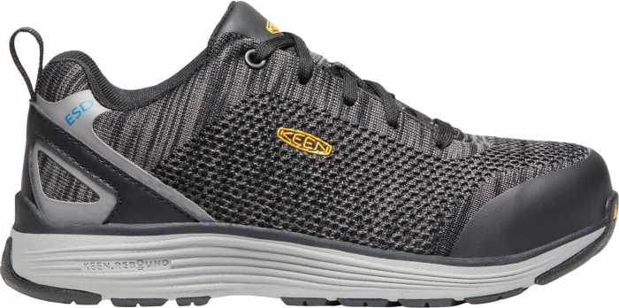 KEEN Utility KN1021350 Sparta, Women's, Black/Grey Flannel, Aluminum Toe, SD Athletic