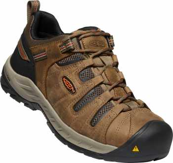 KEEN Utility KN1023268 Flint II, Men's, Shitake/Rust, Steel Toe, EH, Low Hiker