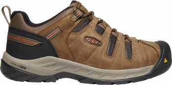 KEEN Utility KN1023268 Flint II, Men's, Shitake/Rust, Steel Toe, EH, Low Hiker