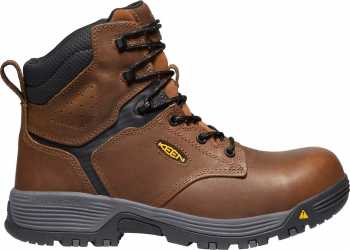 KEEN Utility KN1024182 Chicago, Tobacco/Black, Men's, Comp Toe, EH, WP, 6 Inch Boot