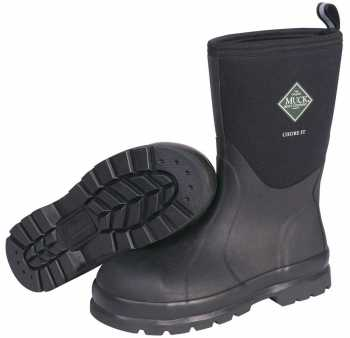 Muck MCMS000A Unisex Chore, Black, Steel Toe, EH, Pull On Boot