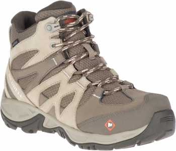 Merrell Work MLJ099326 Siren, Women's, Brindle/Boulder, Alloy Toe, EH WP Hiker
