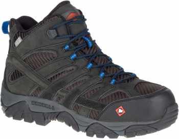 Merrell MLJ15751 Moab 2 Vent Mid Men's, Black, Comp Toe, EH, Waterproof Hiker