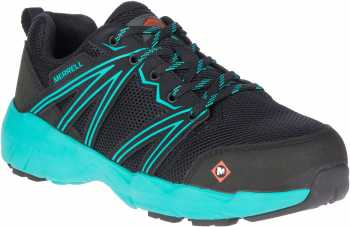 Merrell MLJ17538 Fullbench, Women's, Black/Ceramic, Alloy Toe, EH, Low Athletic