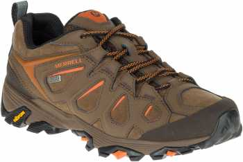 Merrell MLJ37493 Moab FST, Men's, Dark Earth, Soft Toe, WP, Slip Resistant Low Hiker