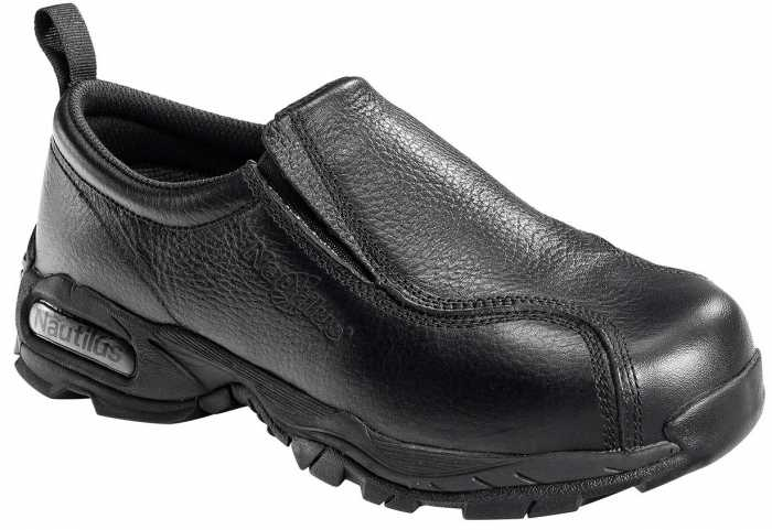 Nautilus N1631 Women's, Black, Steel Toe, SD, Twin Gore Slip On