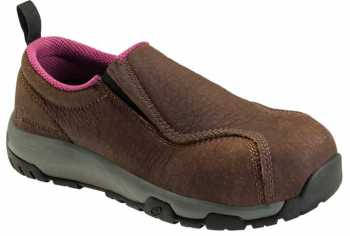 Nautilus ZN1647 Women's, Brown, Nano Toe, SD, Twin Gore Slip On