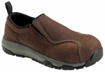 Nautilus ZN1657 Men's, Brown, Nano Toe, SD, Twin Gore Slip On