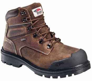 Nautilus/Avenger N7258 Men's, Brown, Steel Toe, EH, PR, WP 6 Inch Boot