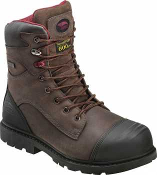 Nautilus N7573 Avenger, Men's, Brown, Nano Toe, EH, PR, WP/Insulated, 8 Inch
