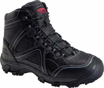 Nautilus/Avenger N7712 Crosscut, Men's, Black, Steel Toe, EH, PR, WP, 6 Inch Boot