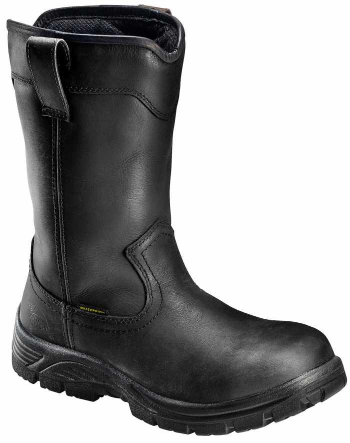 Avenger N7847 Men's, Black, Comp Toe, EH, WP, Pull On Boot
