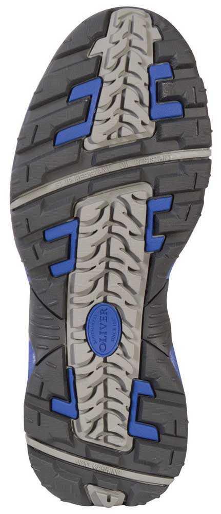 Oliver OL11111 Men's Black/Grey, Steel Toe, EH Hiker Oxford