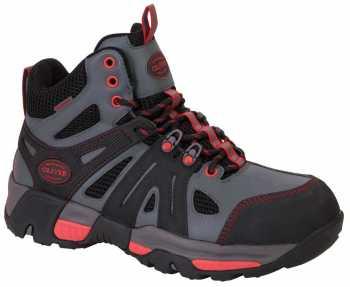 Oliver OL11113 Men's Grey/Red, Steel Toe, EH, PR, Waterproof Hiker
