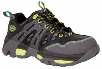Oliver OL21111 Women's Black/Bright Green, Steel Toe, Waterproof, EH, Hiker