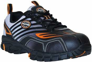 Oliver OL25000W Men's Black/Orange, Comp Toe, EH, Low Athletic, Wide Width