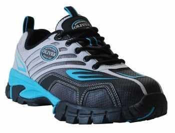 Oliver OL25004W Women's Black/Blue, Comp Toe, EH, Low Athletic, Wide Width