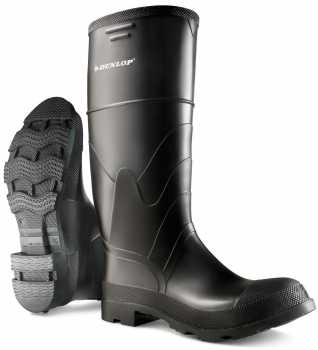 Dunlop ON86622 Men's, Black, PVC, Steel Toe, EH, PR, WP, Injected, Pull On Boot