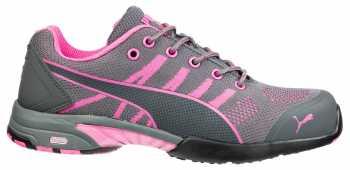 Puma PU642915 Celerity Knit Low, Women's, Grey/Pink, Steel Toe, SD, Low Athletic