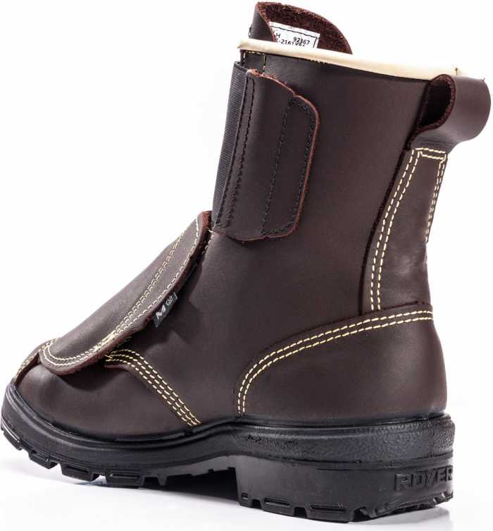Royer RO2161XPA Men's Brown High Heat Velcro Closure 8 Inch Boot With Puncture Plate