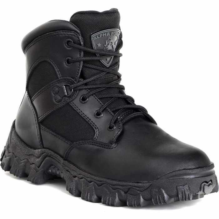 Rocky 2167 Black Waterproof, Uniform, Soft Toe Boot