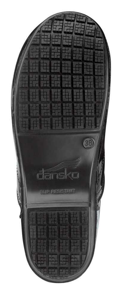 Dansko SDK180202 Women's Black Patent MaxTrax Soft Toe Slip Resistant Clog