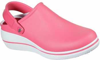 SKECHERS Work SK108051PKW Amreli, Women's, Pink/White, Soft Toe, Slip Resistant Clog