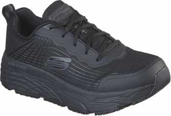 SKECHERS Work SK200021BLK Max Cushioning Elite, Men's, Black, Soft Toe, Slip Resistant Athletic